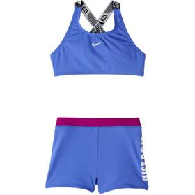 Nike Swim JDI Crossback Sport Bikini Set Meisjes, blauw